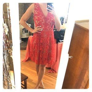 Red lace dress, XS